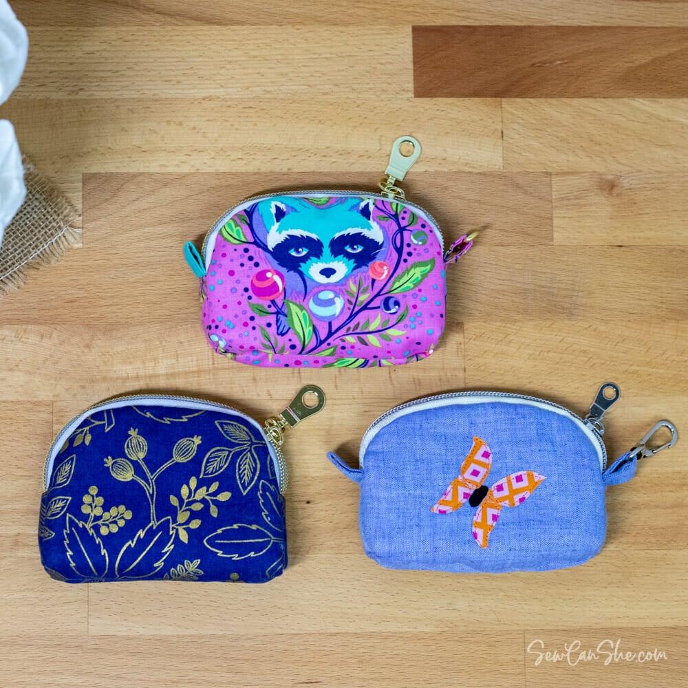 3 diy coin pouches
