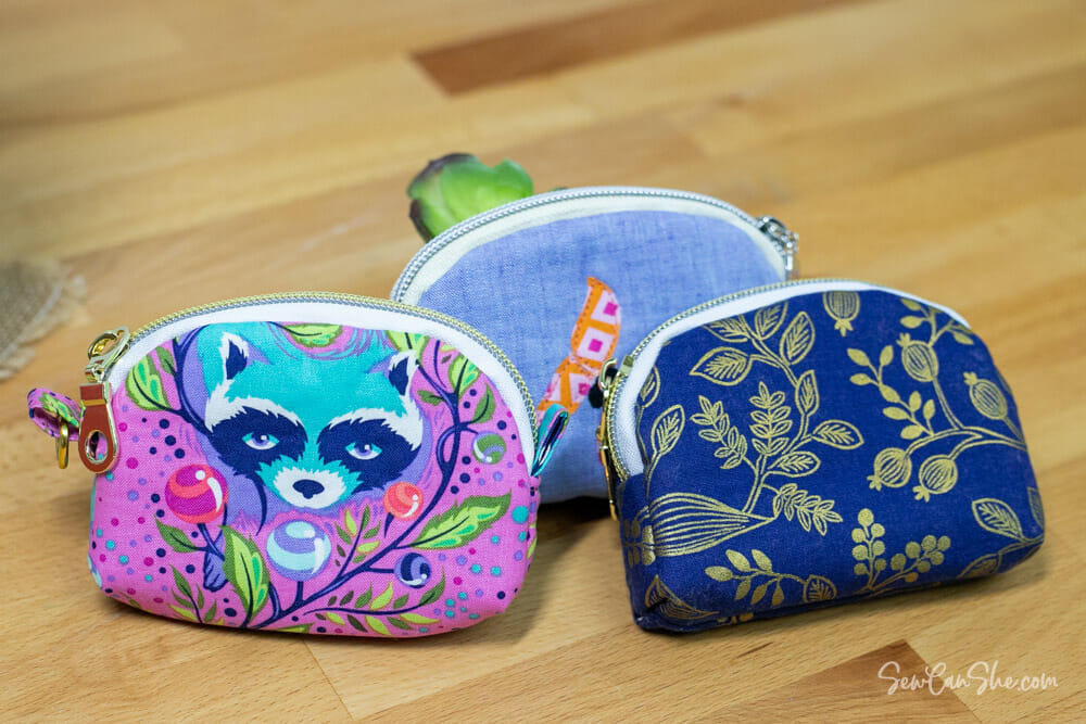 3 pouches from my Coin Purse Pattern