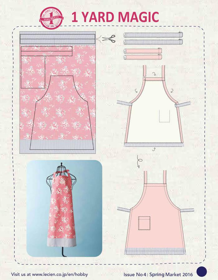 1 Yard Magic Apron {free sewing pattern}