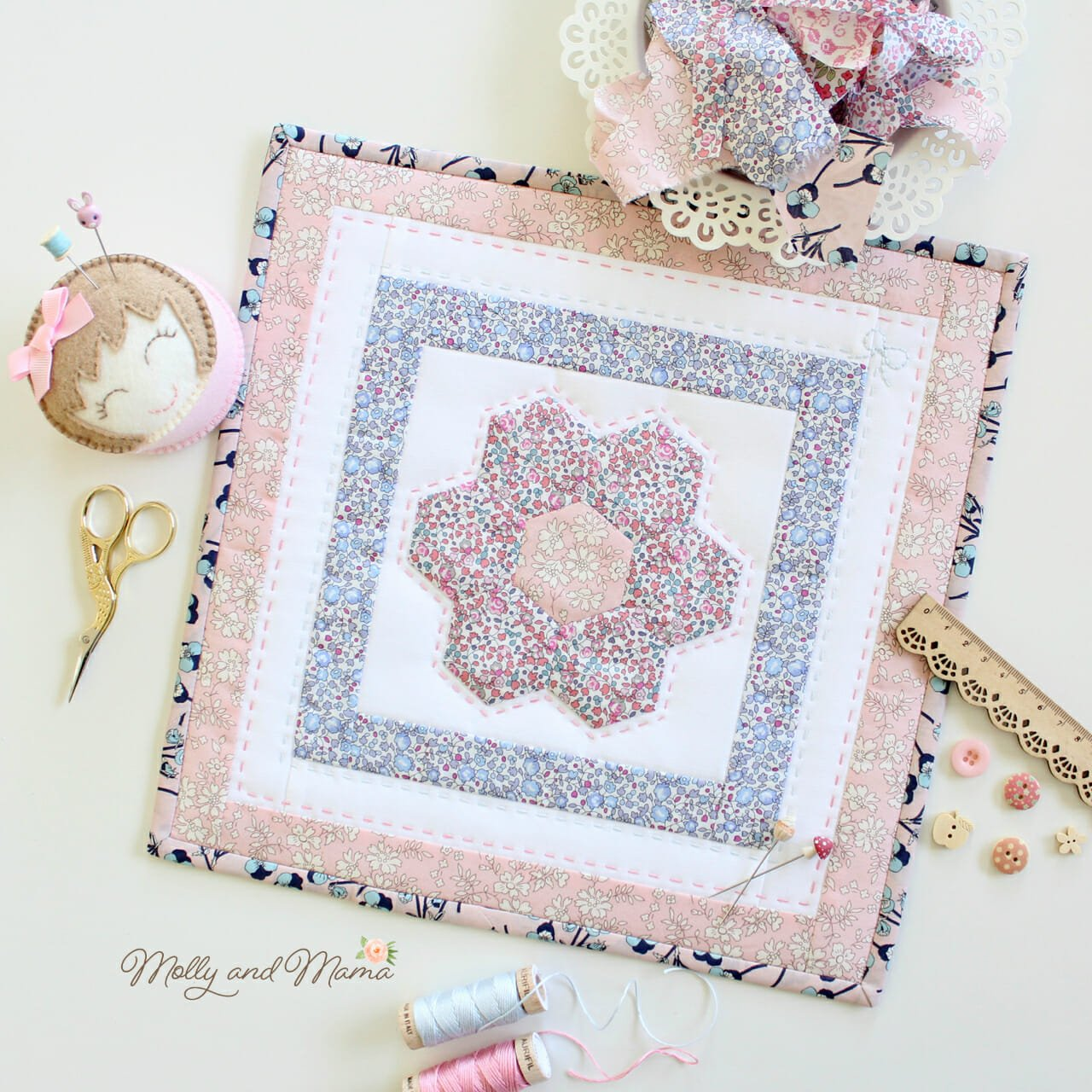Flora Mini Quilt by Molly and Mama - 4.jpg