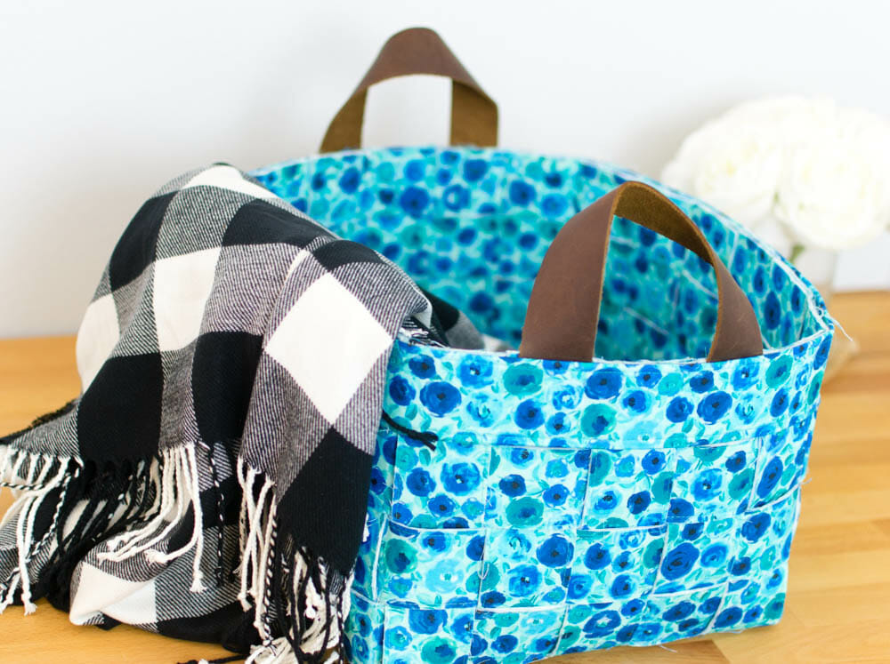 DIY Woven Basket - with optional handles! {free tutorial}