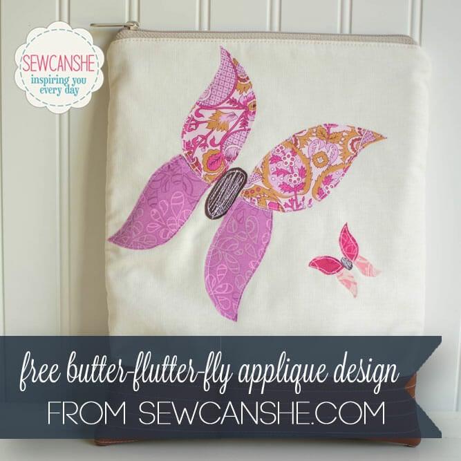 Butter-flutter-fly free butterfly applique design