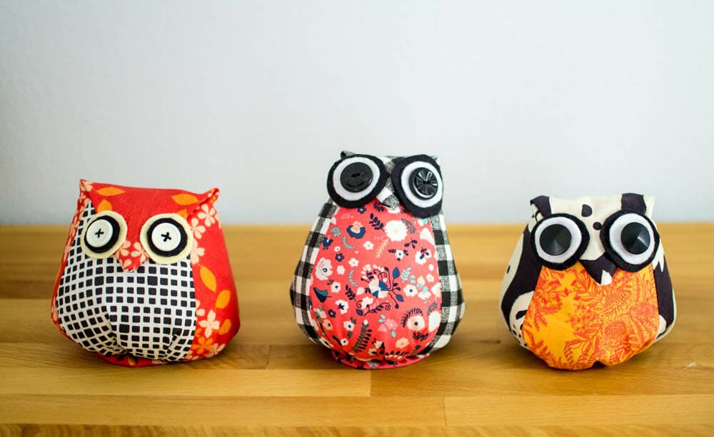 These owls are 'basic' size.