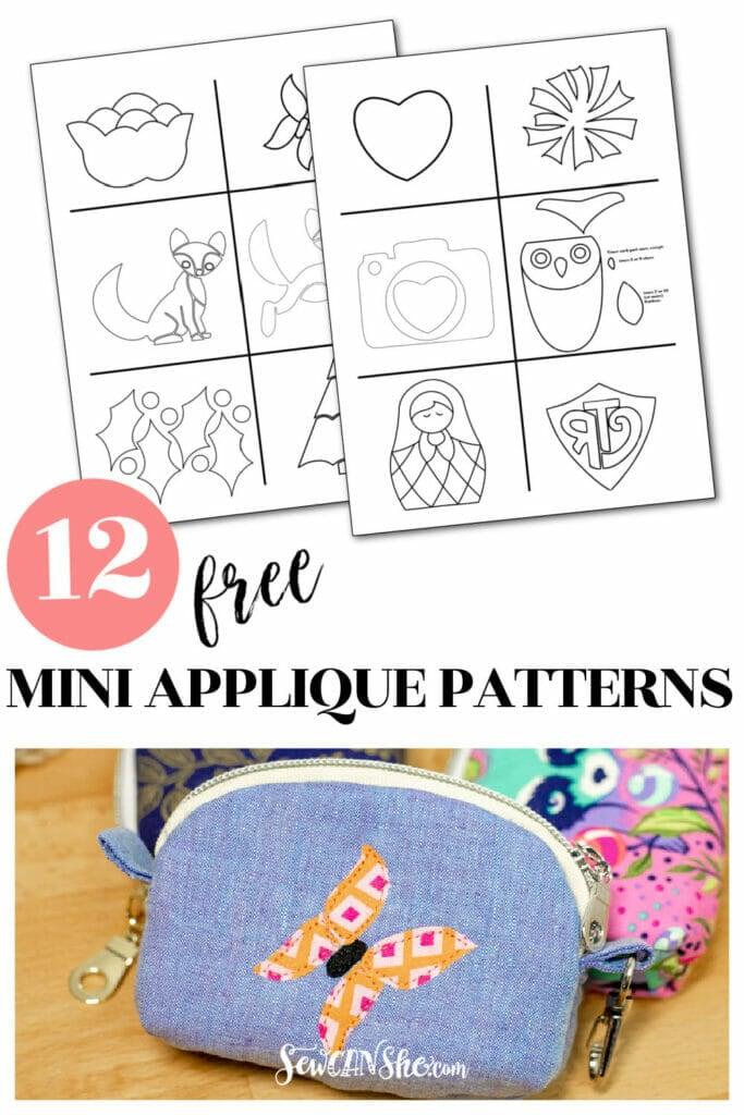 free mini applique patterns