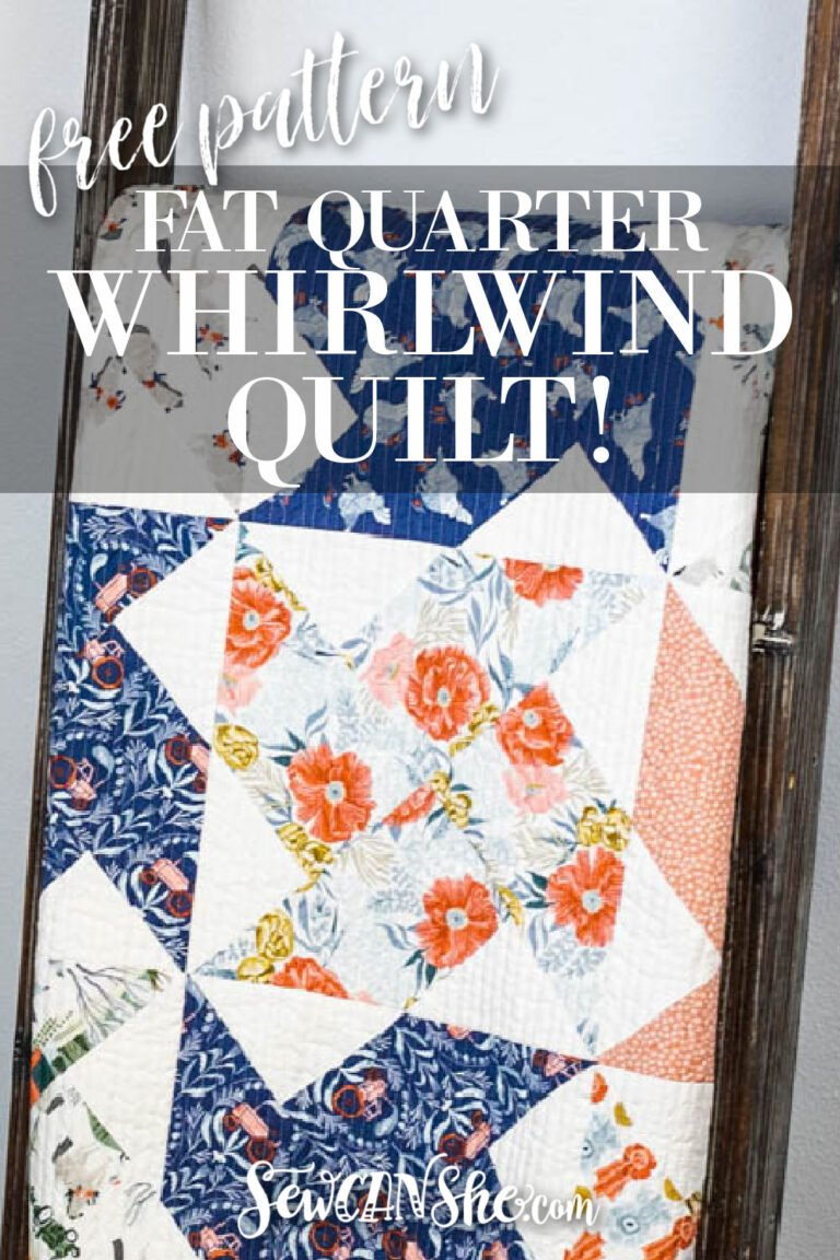 Fat Quarter Whirlwind Quilt Free Pattern!