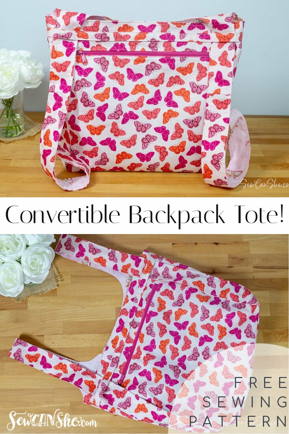 convertible backpack tote free sewing pattern