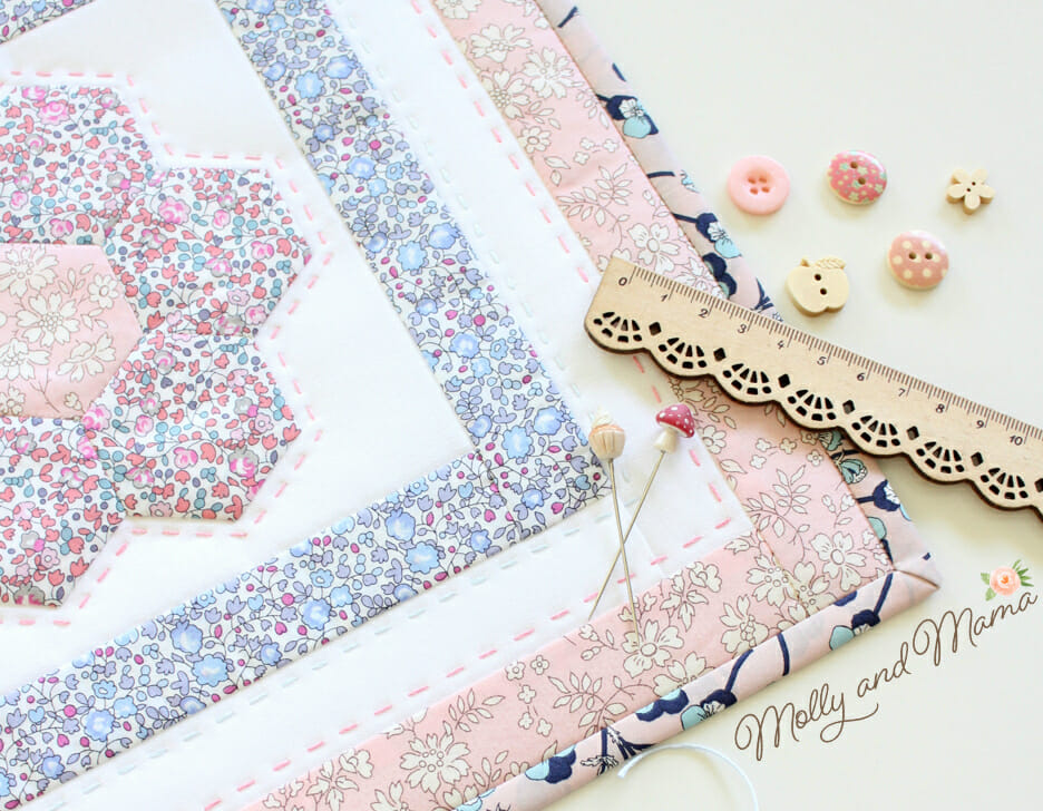 Monthly Mini Quilt for January 2018 - Flora!